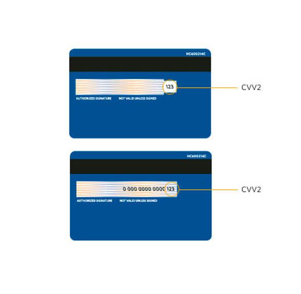 Что означает цифра 2 в кодах CVV2 и CVC2?